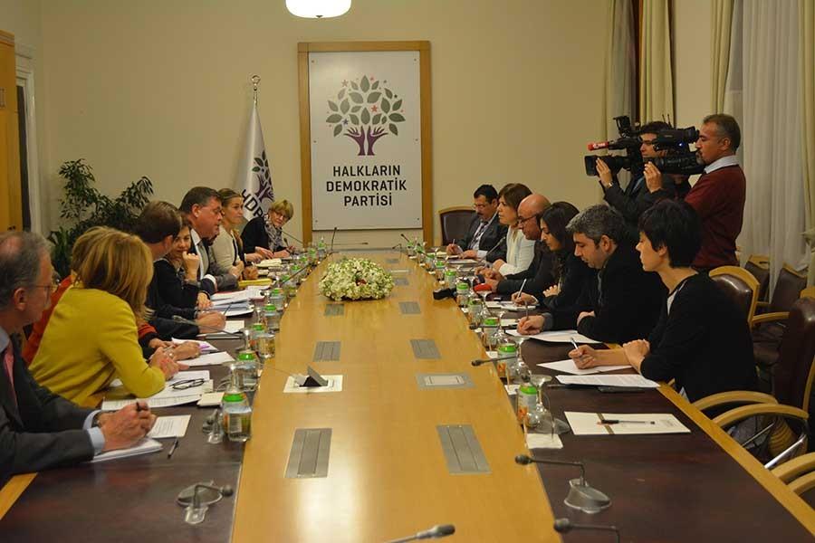 Avrupa Konseyi heyeti HDP'yi ziyaret etti