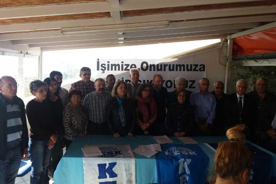 Antalya'da KHK ile işten atmalar protesto edildi