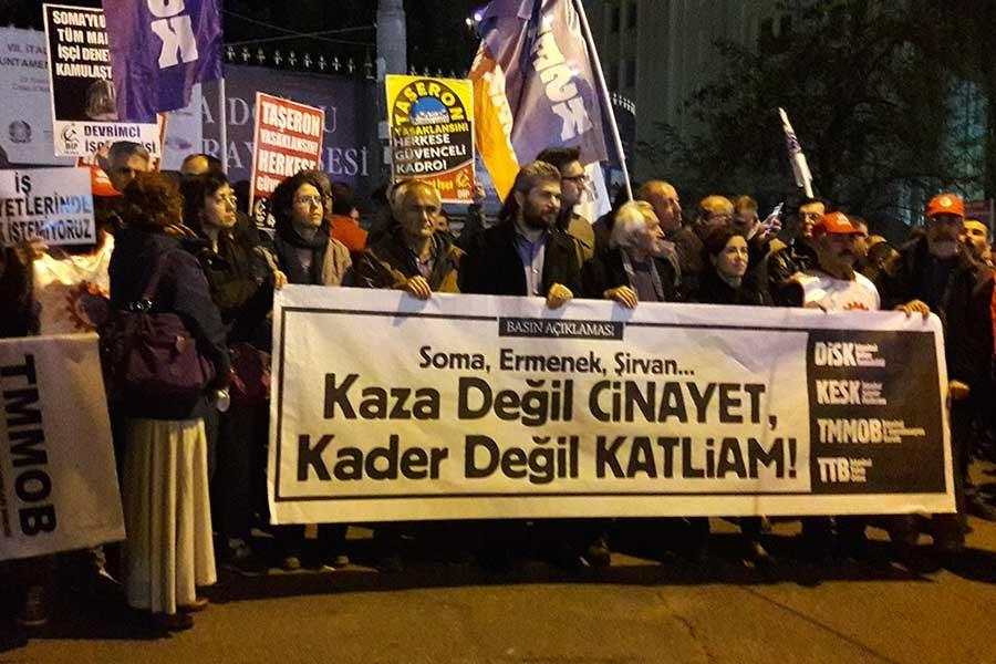 Sendika ve meslek odaları Siirt'teki katliamı protesto etti