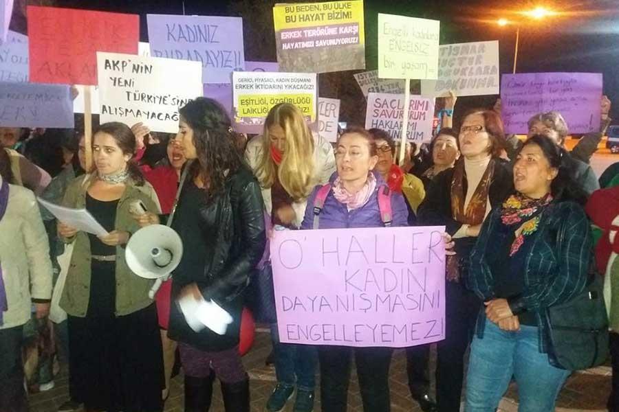 Antalya Kadın Platformu, kadına şiddete 'hayır' dedi