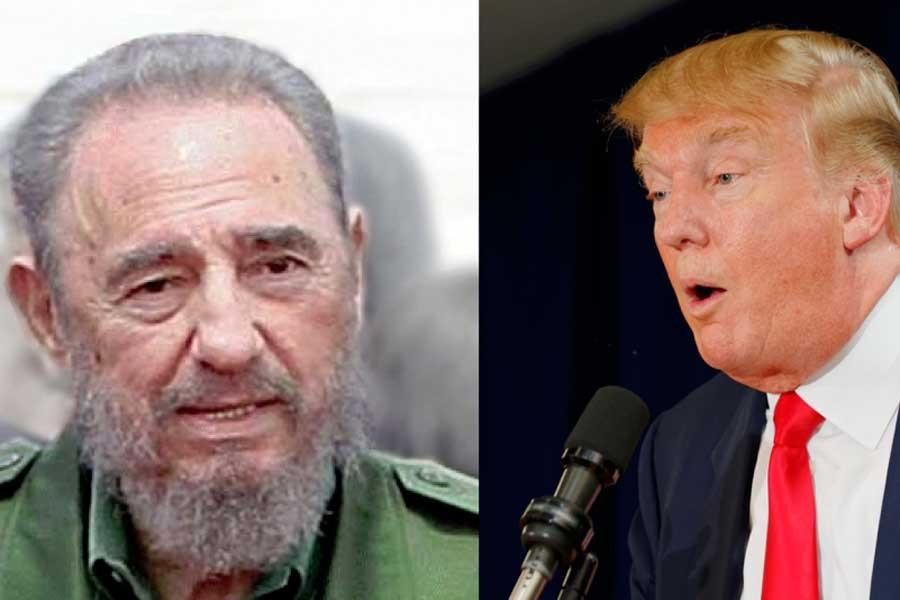 Trump'tan tek cümlelik Castro mesajı