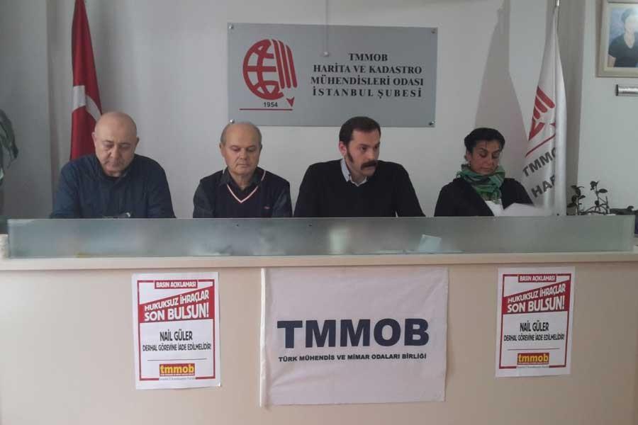TMMOB: Nail Güler derhal görevine iade edilsin!