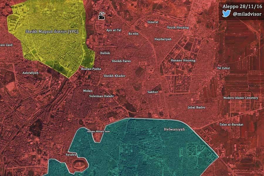 Halep kent merkezinin kuzeydoğusu tamamen ordu kontrolünde