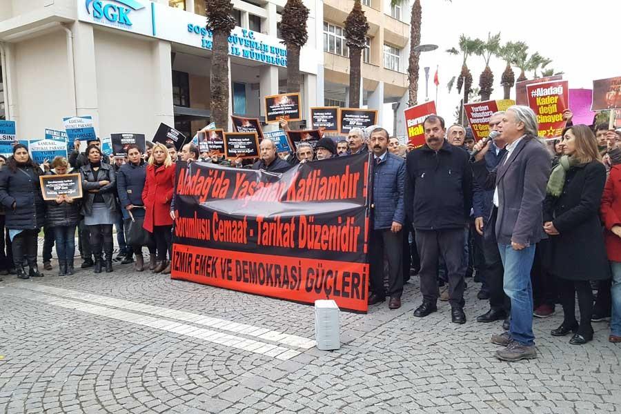 İzmir'den Adana yangını eylemi: Aladağ'da yaşanan katliamdır