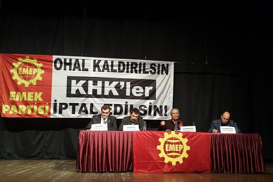 EMEP, İstanbul Kartal'da panel gerçekleştirdi