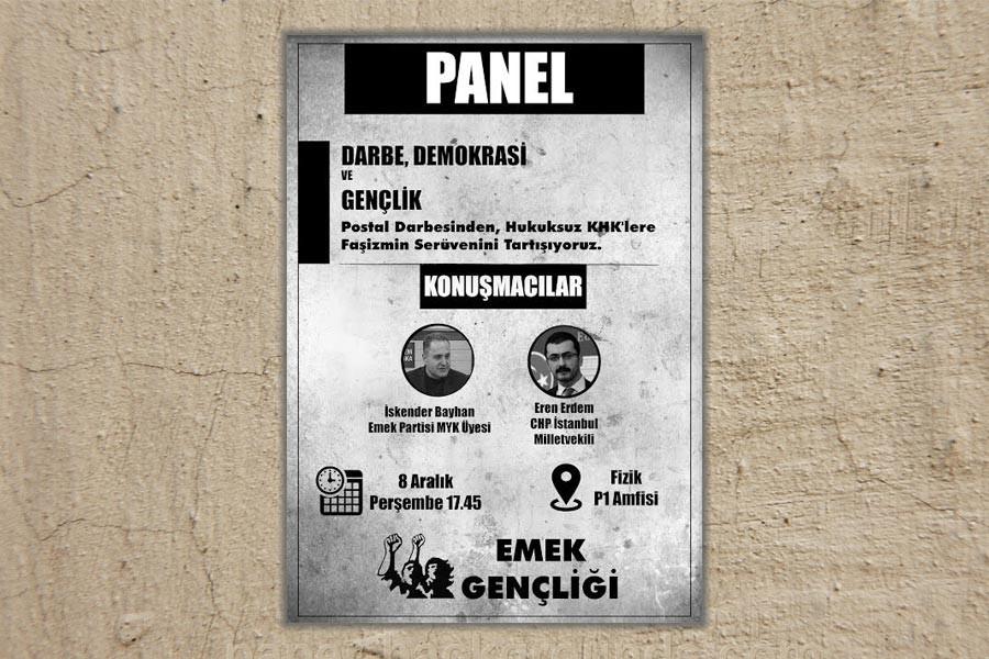 ODTÜ'de 'Darbe, Demokrasi ve Gençlik' paneli yapılacak