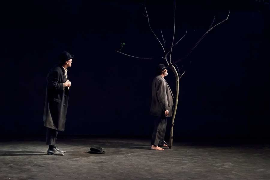 an analysis of the mood in samuel becketts play waiting for godot Summary of the play waiting for godot is a play in two acts act i begins on a country road by a tree godot will be there tomorrow estragon and vladimir are left to wait as before the life and work of samuel beckett i have a clear memory of my own fetal.