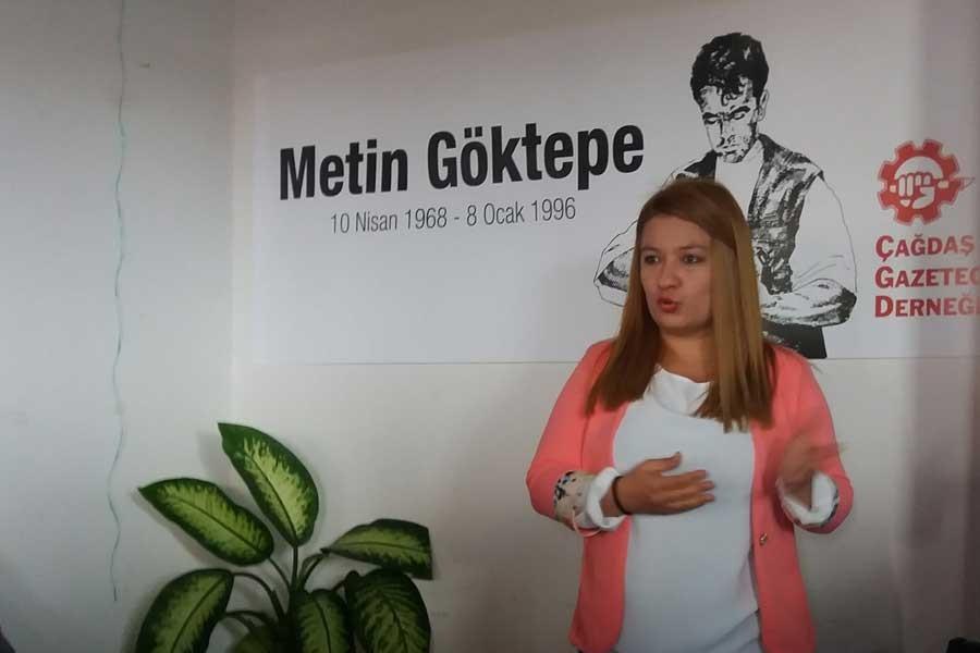 Antalya'daki gazeteciler Metin Göktepe'yi andı