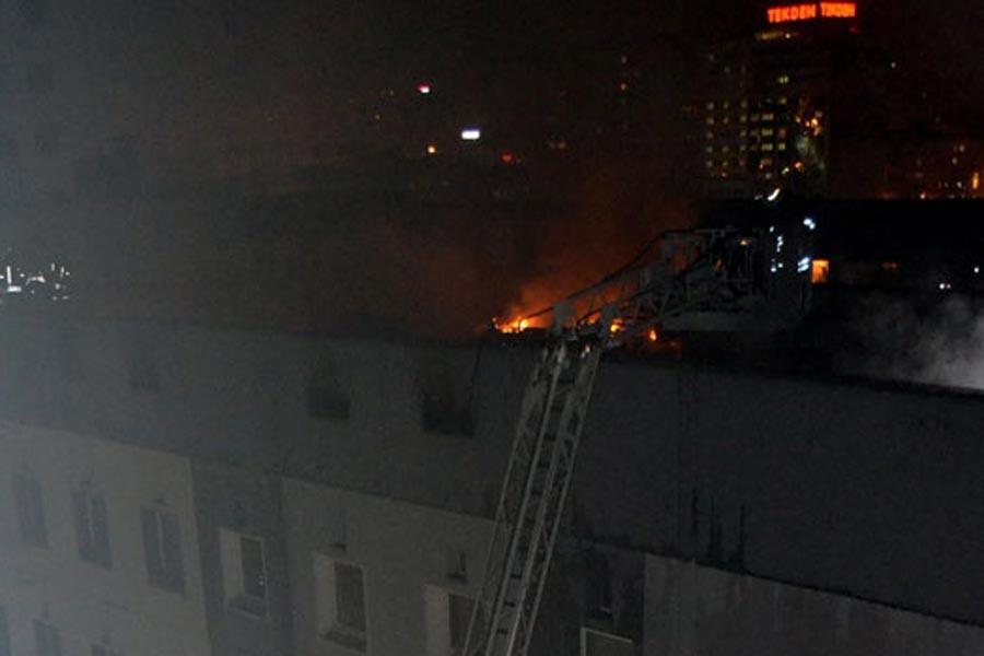 Kayseri'de Kocasinan Belediye binasında yangın