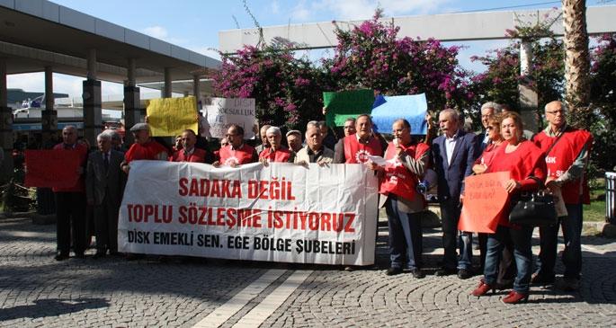 Emeklilerden kış zammı protestosu