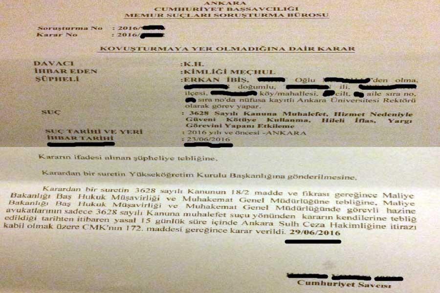 Rektör İbiş 6 günde 11 soruşturmadan aklanmış!