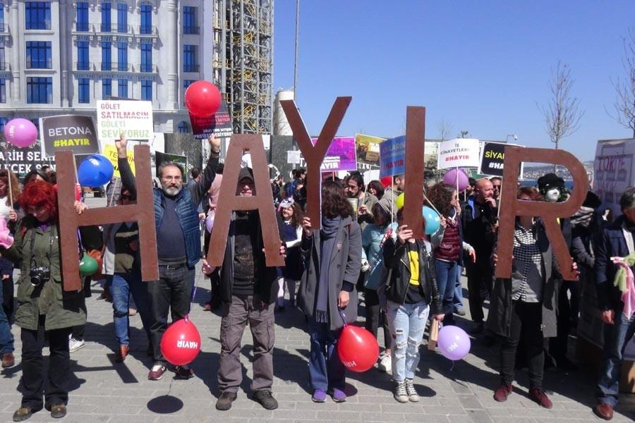 Yaşam alanı savunucularından 'Hayır de bahar gelsin' eylemi