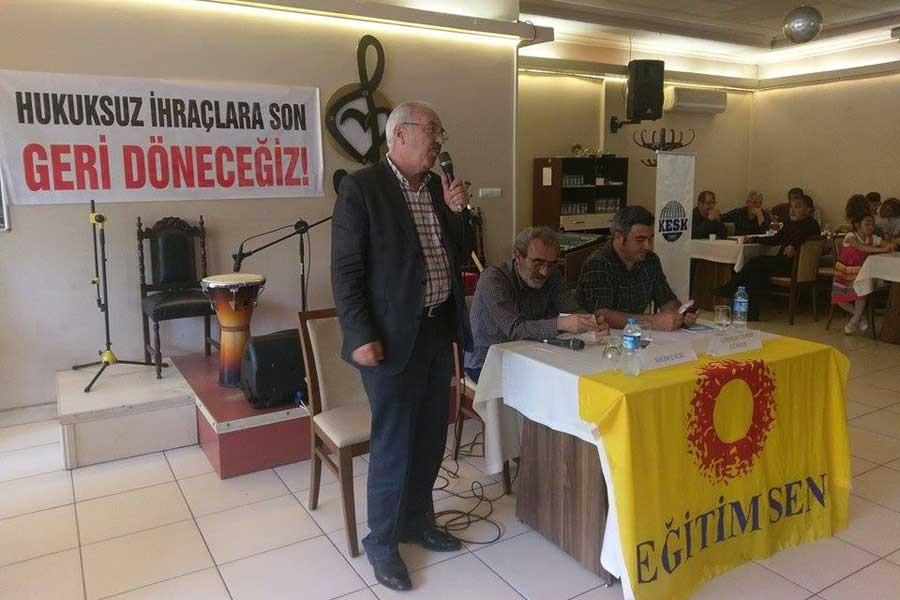Karadeniz Ereğli'de ihraç edilenlerle dayanışma etkinliği