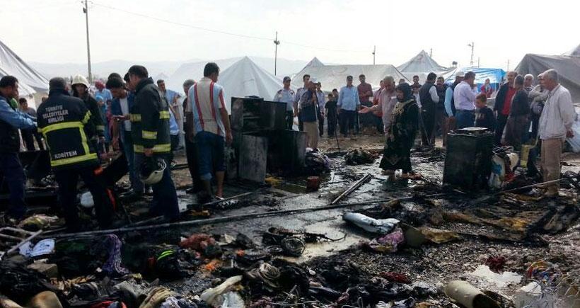 Çadır kentteki yangında, Suriyeli 3 yaşındaki Ahmet öldü, kardeşi yaralandı