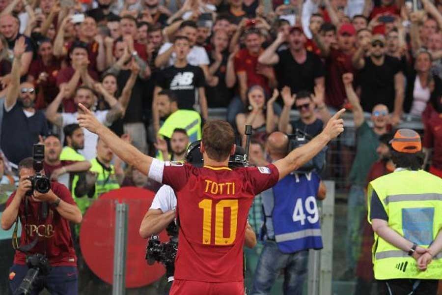Fotoğraflarla Totti'nin vedası