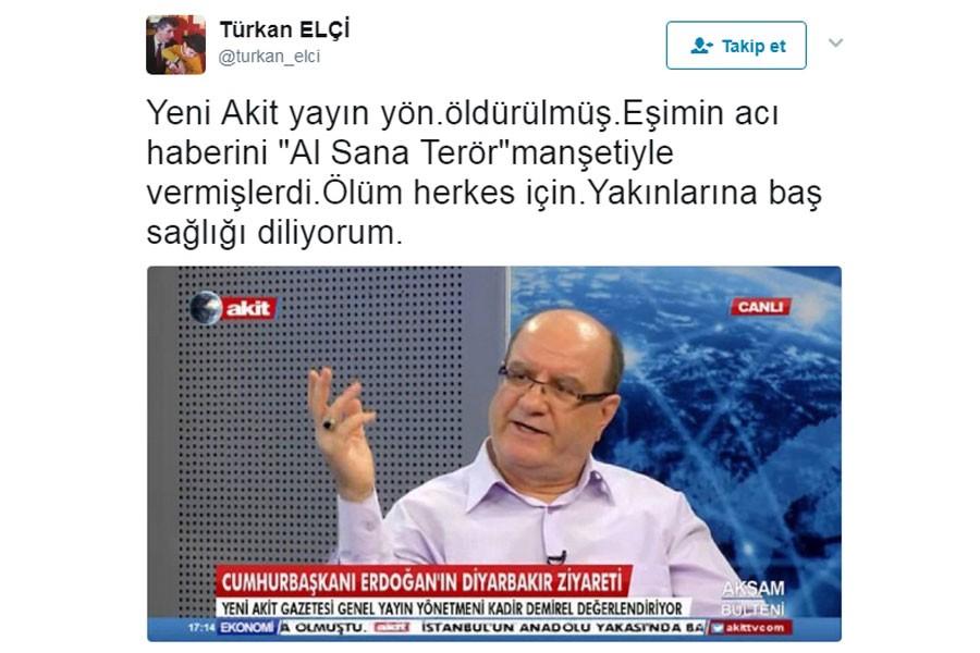 Türkan Elçi'den Kadir Demirel taziyesi: Ölüm herkes için