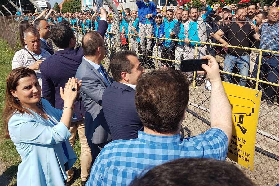 CHP'den cam işçilerine destek ziyareti
