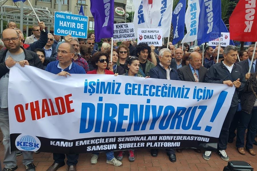 Samsun'da Gezi Direnişi'nin 4. yılında açıklama