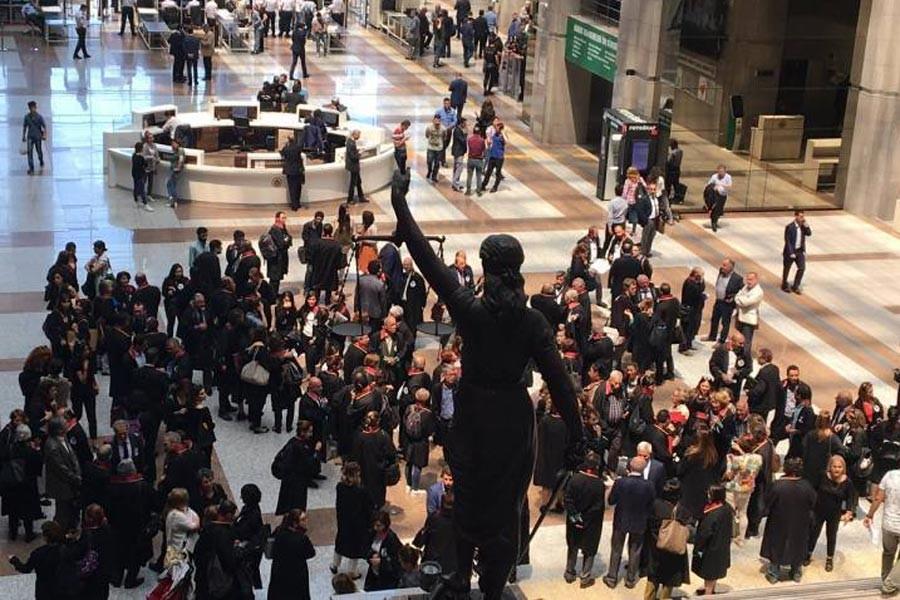 Avukatların 'adalet nöbeti'nde 9'uncu hafta