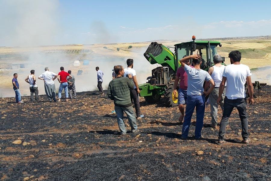 Adıyaman'da 70 dönüm ekili arpa yandı