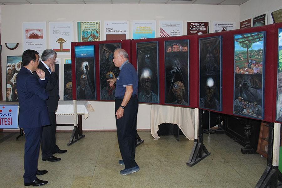 GMİS'ten 'Maden İşçileri Resim Sergisi'ne ziyaret