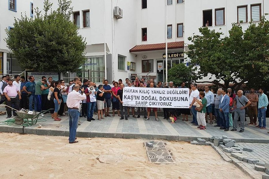 Tüm-Bel Sen üyesi mühendisin darbedilmesi protesto edildi