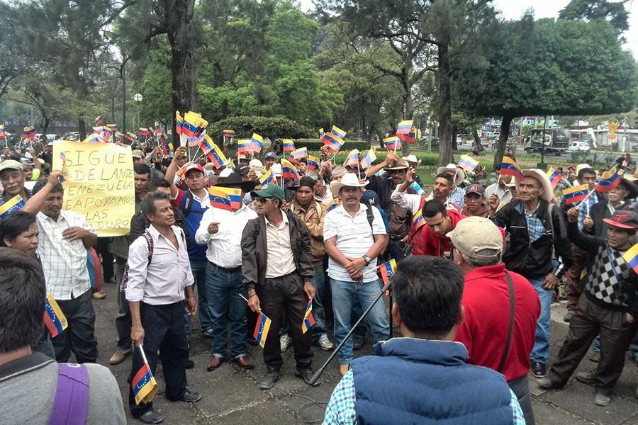Guatemalalı yerlilerden Maduro'ya destek