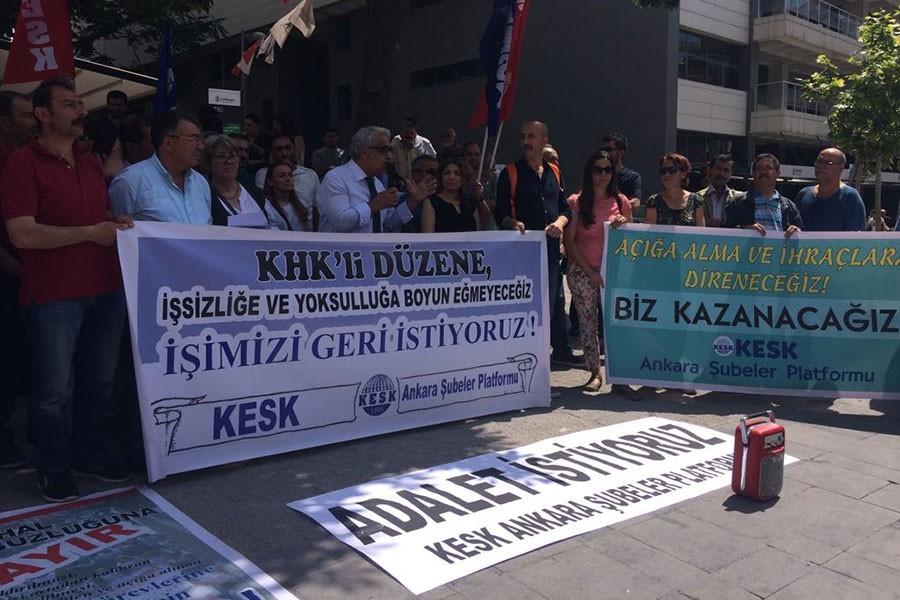 KESK Ankara Şubeler Platformu, AİHM'e tepki gösterdi