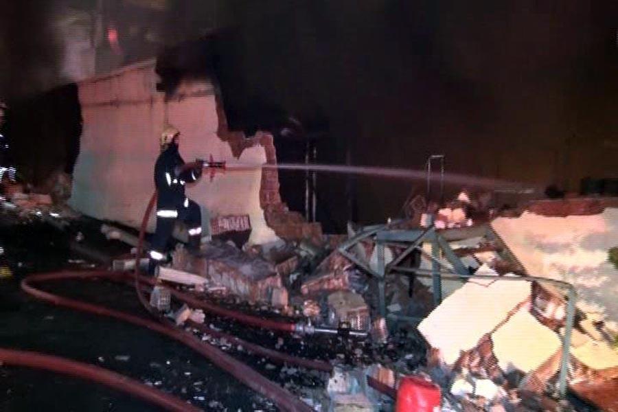 Arnavutköy'de korkutan yangın