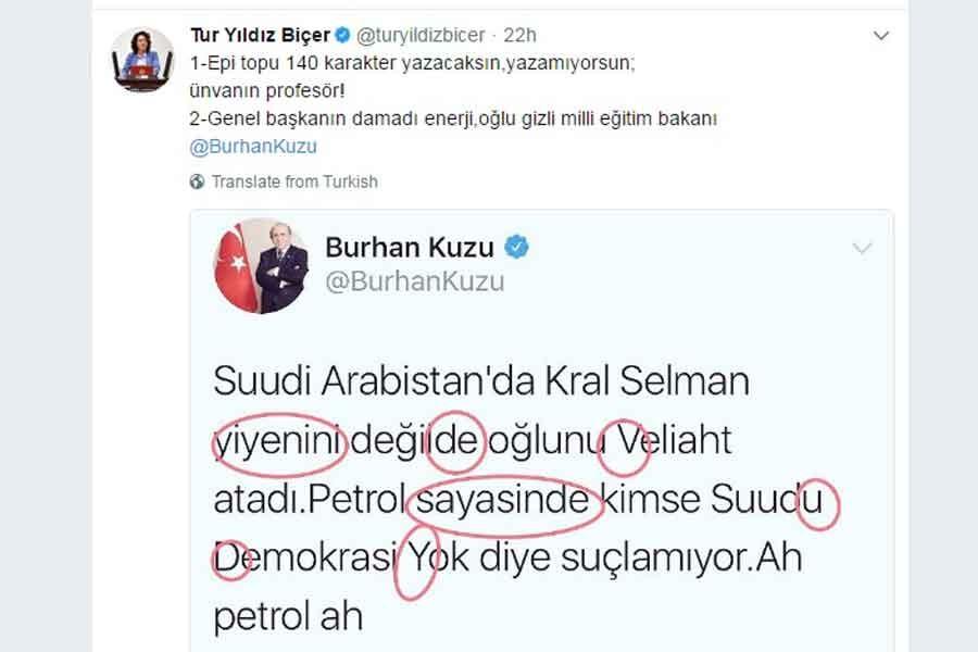 CHP'li Biçer'den AKP'li Kuzu'ya 'Türkçe' isyanı!
