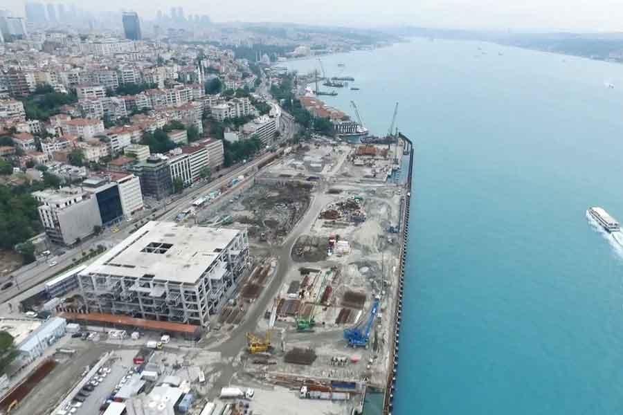 Galataport'ta yıkım işlemi tamamlandı