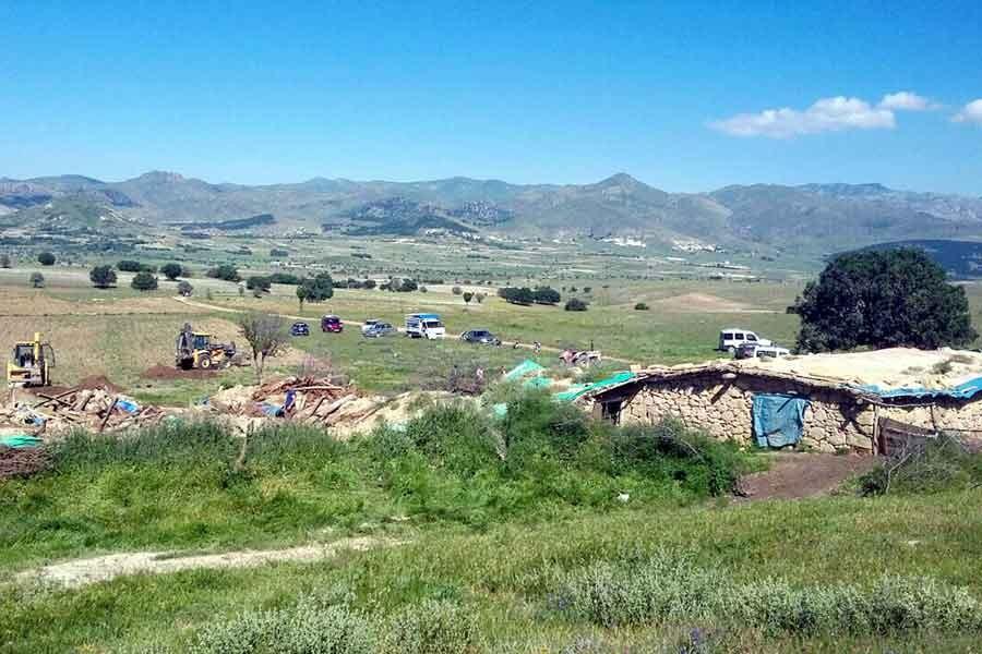 Bolvadin'de ağılın çatısı çöktü: 520 hayvan öldü