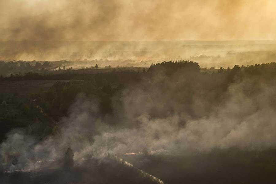 Çernobil'de orman yangını panik yarattı
