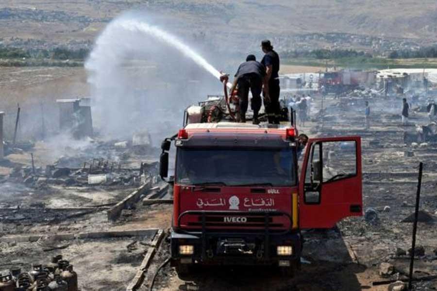 Lübnan'da mülteci kampında büyük yangın: En az 1 ölü