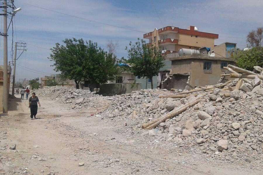 Silopi'de yıkılacak evler işaretlendi!