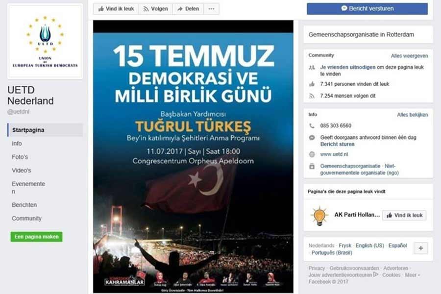 Hollanda, Tuğrul Türkeş'in toplantıda konuşmasını yasakladı
