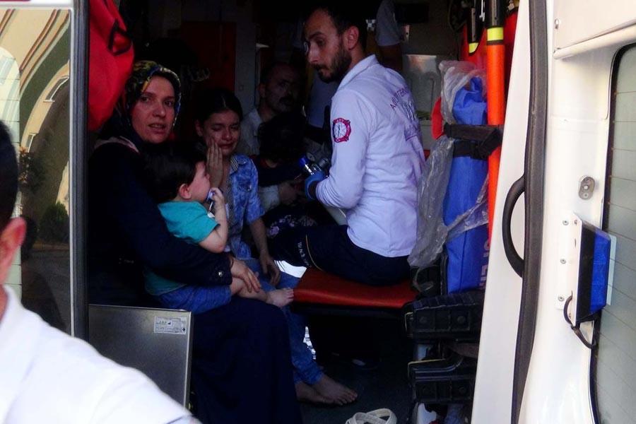 TOKİ  konutlarında yangın: 20 kişi hastanelik oldu