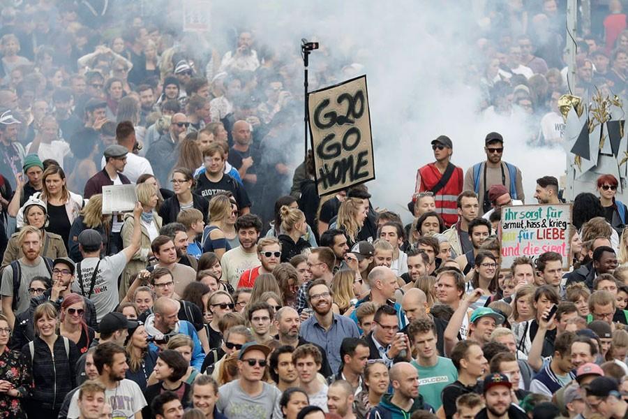 Hamburg'da 'şiddet korkusu' tutmadı