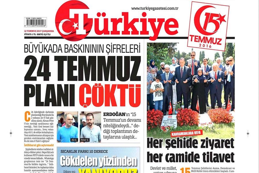 Gazeteciler, Türkiye Gazetesi'ne tepki gösterdi