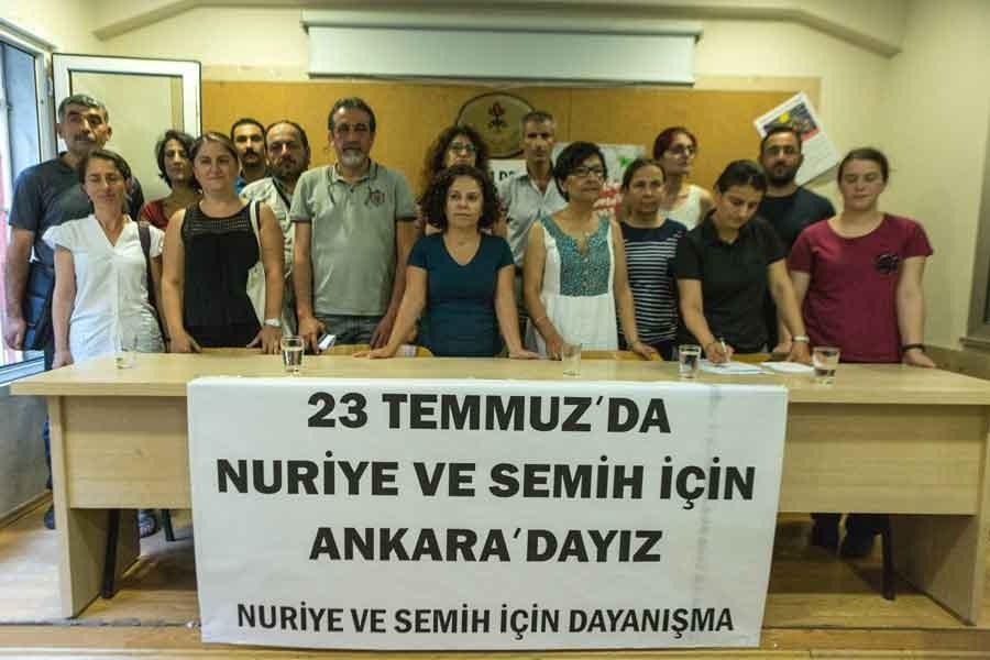 Nuriye ve Semih için Ankara'ya çağrı