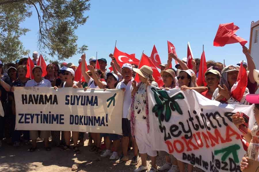 Ayvacık'ta köylüler jeotermal sondaj nöbetinde