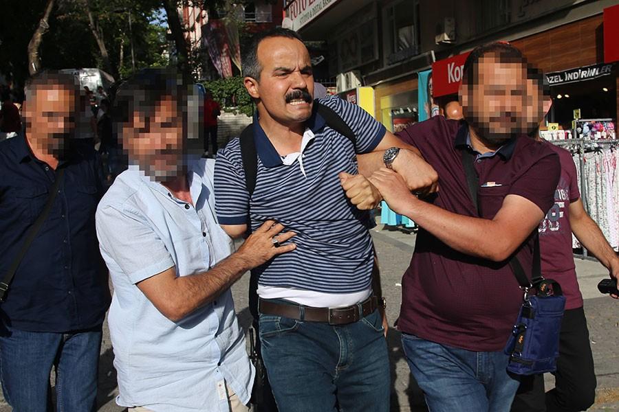 Yüksel'de polis yine saldırdı, Veli Saçılık gözaltına alındı