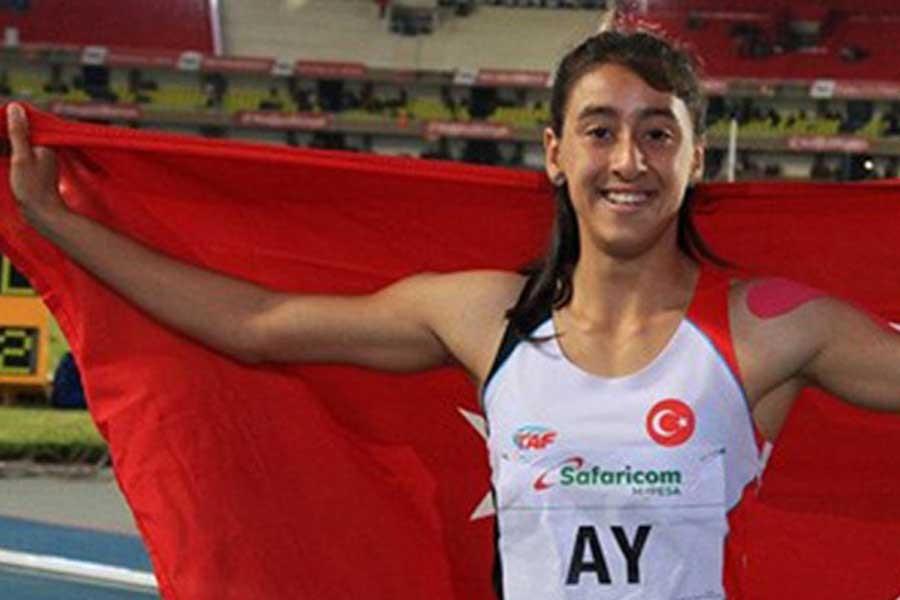 Mizgin Ay, 100 metre finalinde altın madalya kazandı