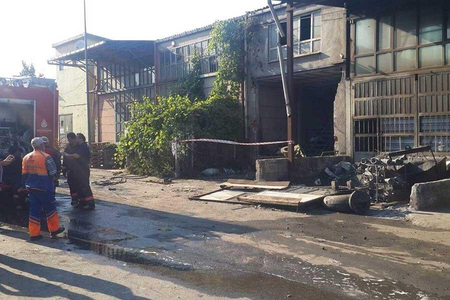 Döküm atölyesinde patlama: 1 işçi ağır yaralandı