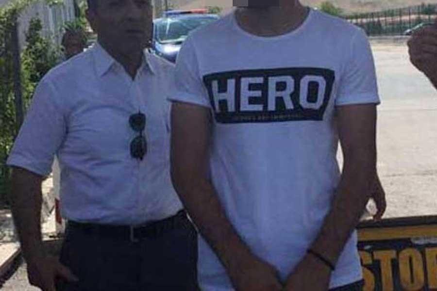 Elazığ'da 'Hero' yazılı tişört giyen kişi gözaltına alındı