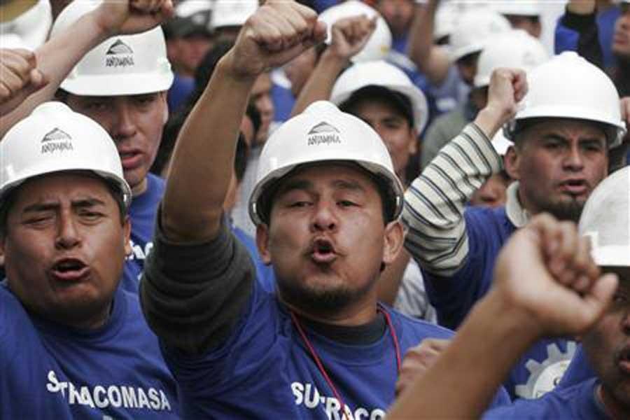 Peru'da maden işçileri grevde