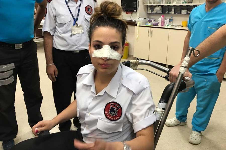 Hastanede kadın güvenlik görevlisine saldırı