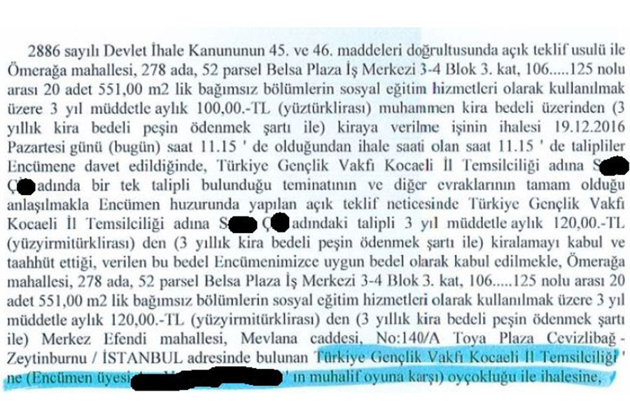 Bilal Erdoğan'ın vakfına 120 liraya ilçe binası!