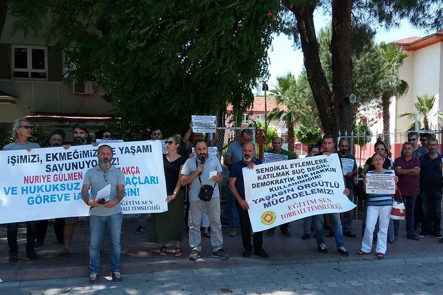 Torbalı'da Eğitim Sen üyelerine soruşturma
