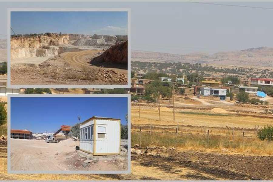 Ergani'de köyün tek mezrasına iki taş ocağı